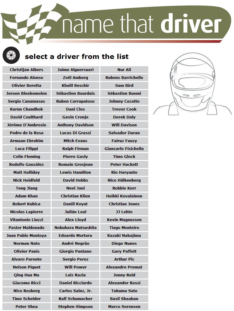 http://www.namethatdriver.com/driver/